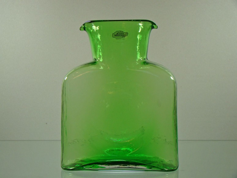 Blenko Water Bottle-Spring Green