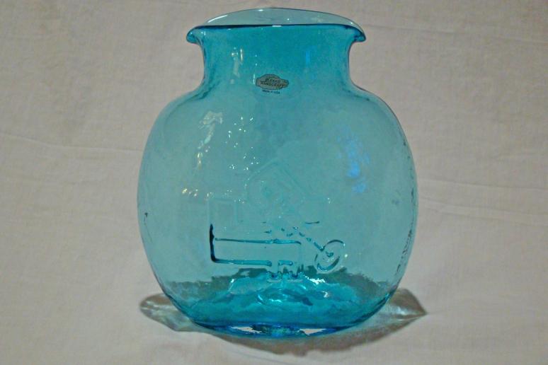 Blenko Redesigned Water Bottle Azure