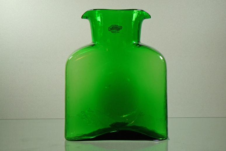 Blenko WAter Bottle Clover