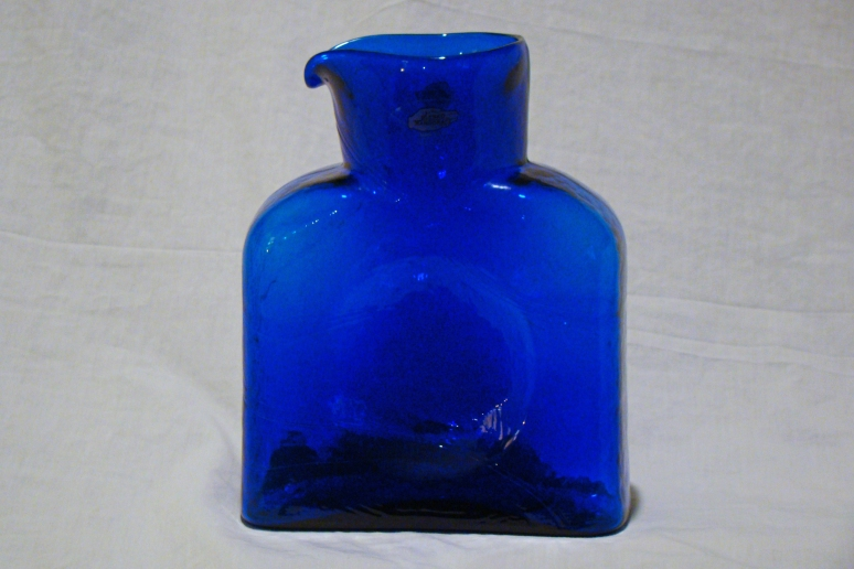 Blenko Water Bottle Cobalt Single Spout