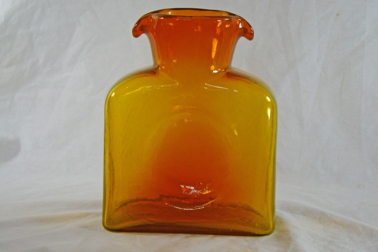 Blenko Water Bottle Honey