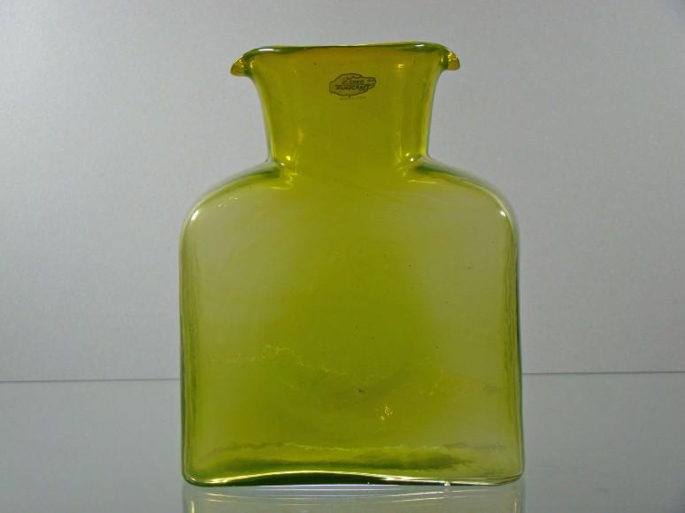 Blenko Water Bottle Jungle encased Yellow