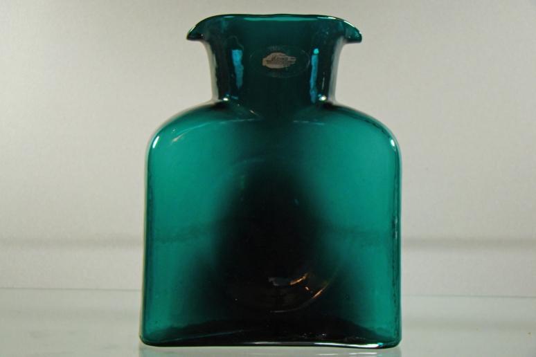 Blenko Water Bottle Peacock
