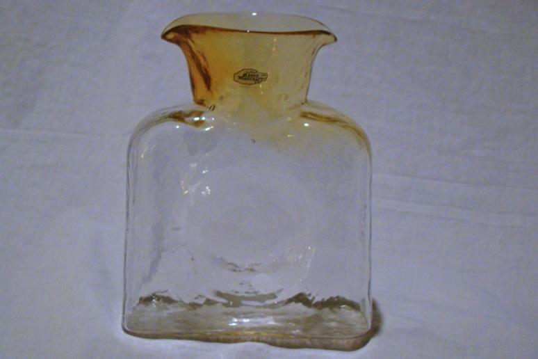 Blenko Water Bottle Topaz Fade