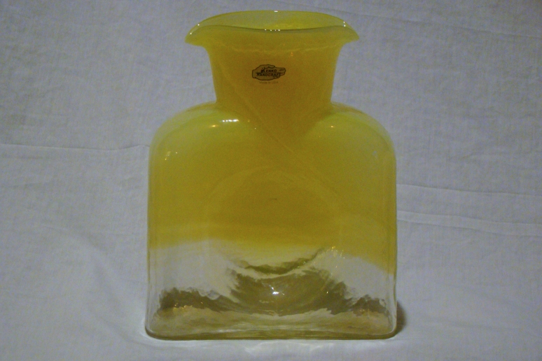 Blenko Water Bottle Yellow Fade