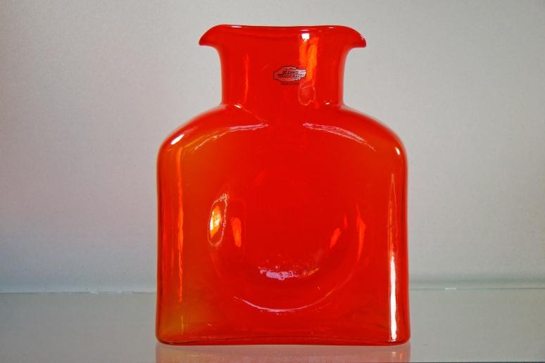 Blenko Water Bottle Coral
